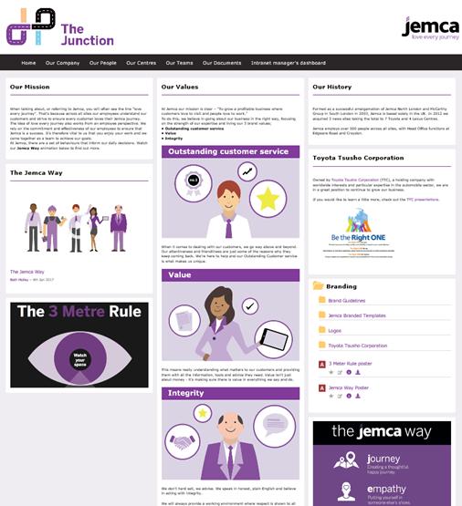 SORCE Intranet Success awards JEMCA