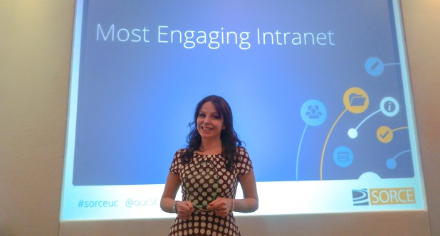 2016 SORCE Intranet winner for most engaging intranet: NICE